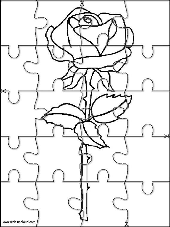 Printable jigsaw puzzles to cut out for kids Nature 75