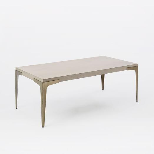 Brass + Concrete Coffee Table   west elm