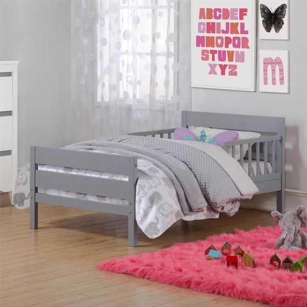 Guard Rails Are Located On Either Side Of The Toddler Bed To Provide Added Security And
