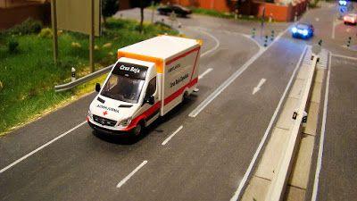 Ambulancia Cruz Roja Española. Escala H0.