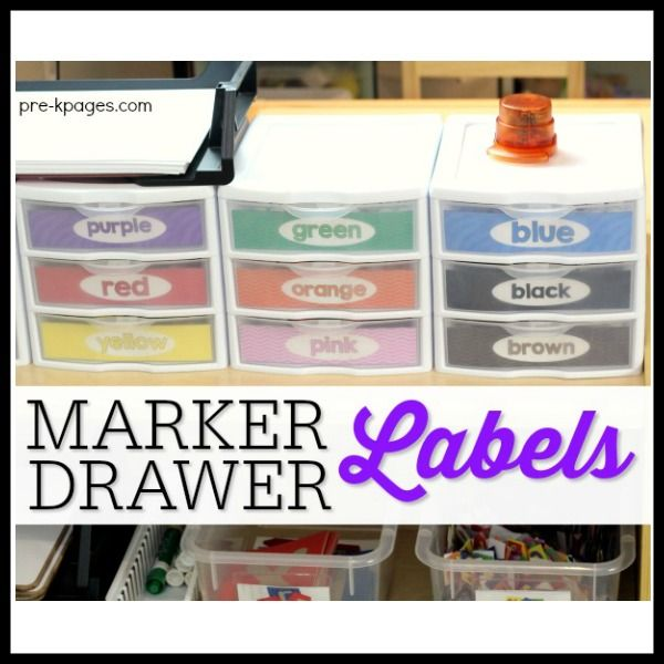 Free printable marker drawer labels to help you organize markers in your classroom.
