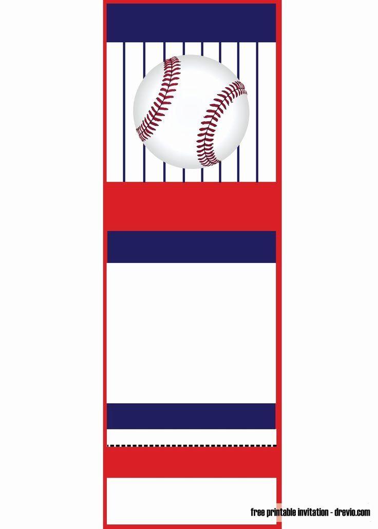 Elegant Baseball Ticket Invitations Template Free In 2020