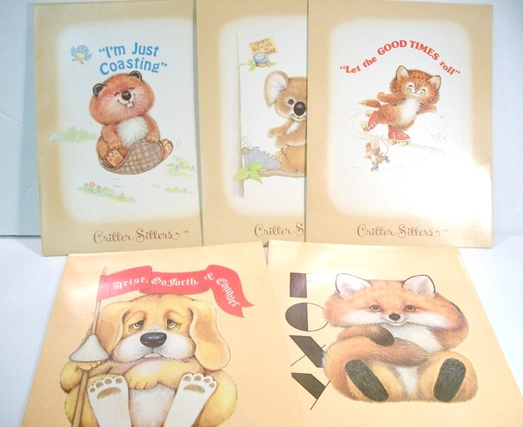 Critter Sitters Folders! I had all kinds of Critter Sitter stuff as a kid...awww...memories!