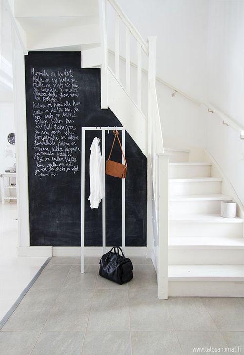 10 Ideas para decorar una pared de pizarra ¿os animáis? | Decoración