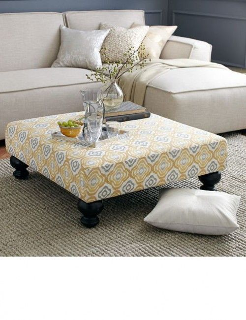 1000 ideas about ottoman coffee tables on pinterest upholstered ottoman coffee table tufted. Black Bedroom Furniture Sets. Home Design Ideas