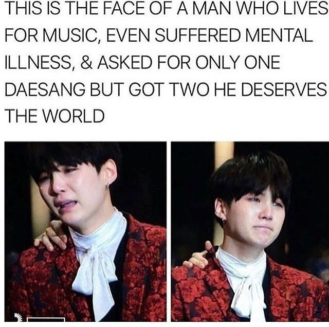 I couldn't be any happier or prounder for Yoongi. Good job man, you earned them.