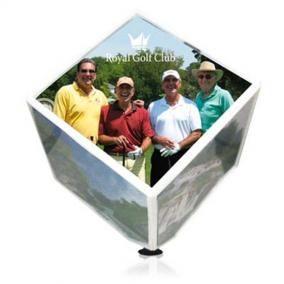 Cube photo rotatif