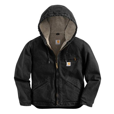 Carhartt Sandstone Sierra Hooded Jacket with Sherpa Lining (For Women) - WOULD NEED IN XS; BLACK, BLUE IS OK