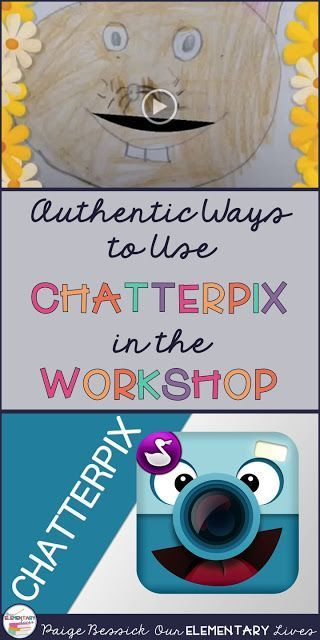 Authentic Ways to Use Technology in the Workshop: ChatterPix