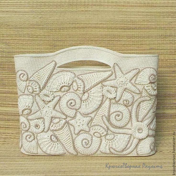 Мобильный LiveInternet Потрясающая  пляжная сумка с вязаными ракушками и морскими звездами | AZADA - Дневник AZADA |