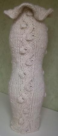 Knitted vaze cosy #homedecoration #knitting
