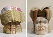 long-bin chen: recycled book sculptures