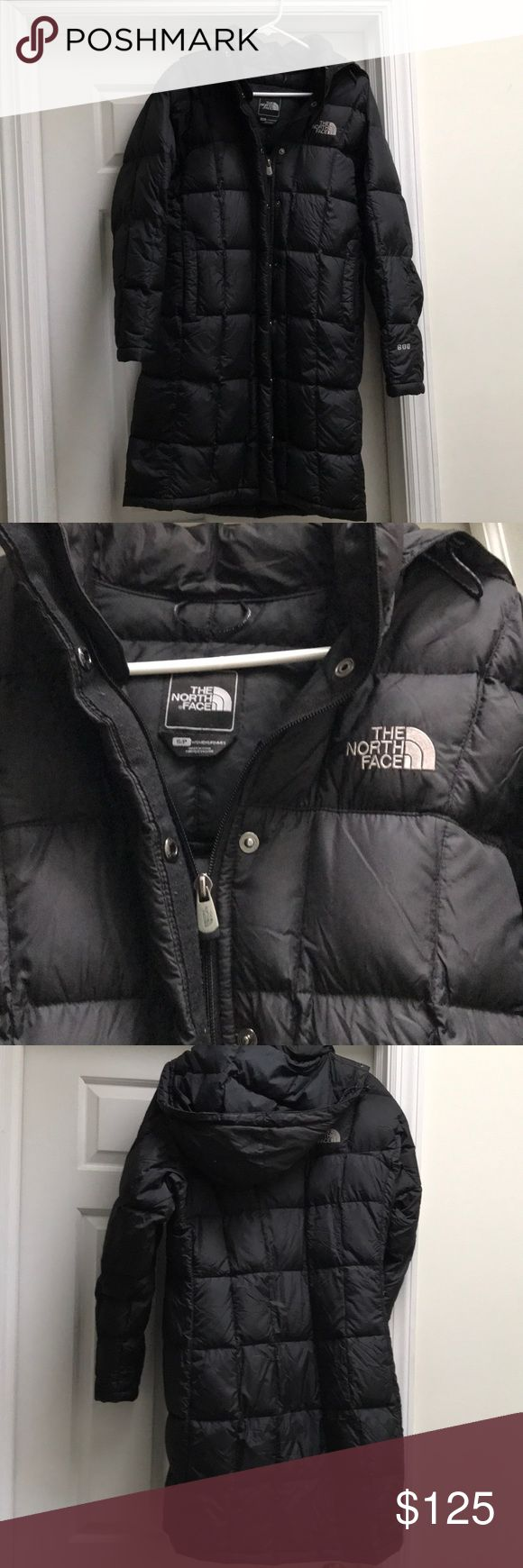 """Long North Face 600 Coat Measures 35"""" in length and has 2 outer pockets with zippers and 1 inside pocket. Like new! Removable hood. North Face Jackets & Coats Puffers"""