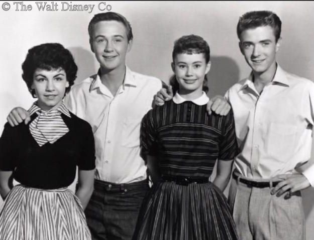 Teen Idol Tim Considine  with his teen co-stars from 'The Shaggy Dog'. (far right). Annette Funicello (far left). Brings to mind the Mouseketeers.  The Hardy Boys and the Adventures of Spin and Marty, a couple of their series: http://www.originalmmc.com/marty1.html  These days it can be found on the Disney Channel... hope it's still around when my grandchildren get a little older, would like to rewatch it with them.