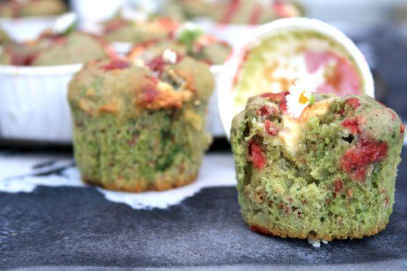 muffins pistache - framboises