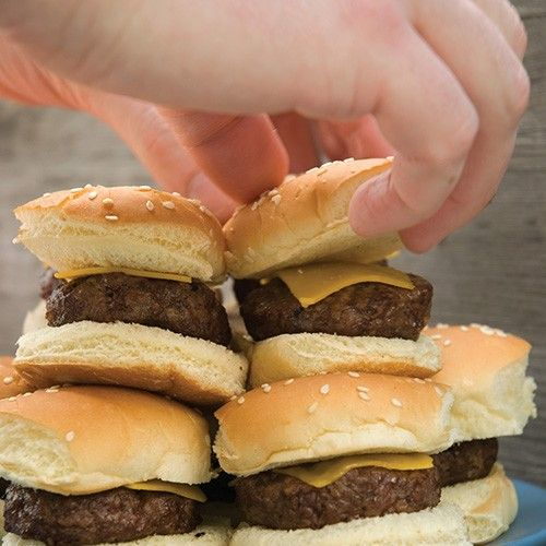 Deluxe Mini Burger Set inkl. grillkurv, 3 dobbelt burgerpresse samt brødskærer