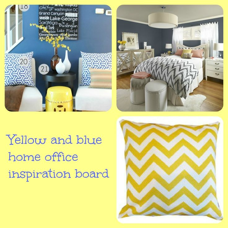 Blue Yellow Gray Color Palette Inspiration Board
