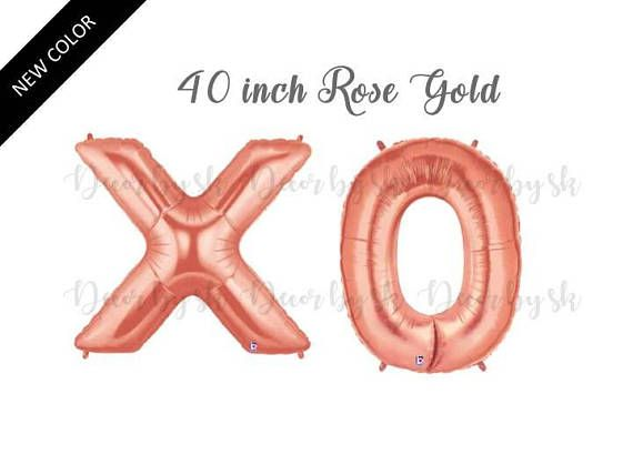 Hey, I found this really awesome Etsy listing at https://www.etsy.com/listing/528561712/40-inch-xo-balloons-gold-or-rose-gold
