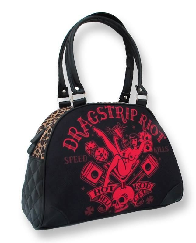 Hotrod Hellcat Tasche/Bowling Bag Dragstrip.Tattoo,Pin up,Oldschool,Custom Style