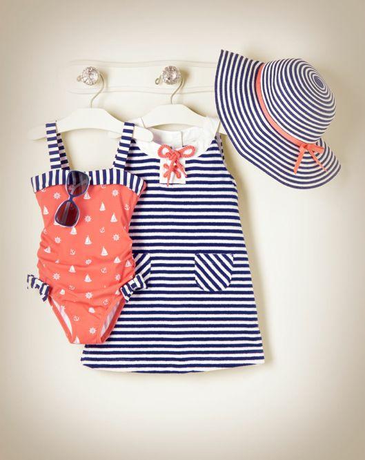 Nautical Swimsuit & Dress... So freakin cute!