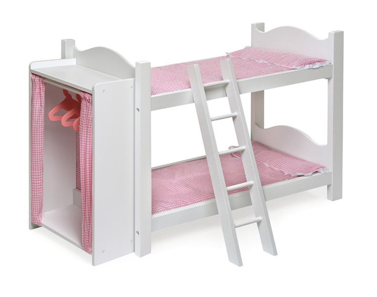 Bunk bed with attached closet