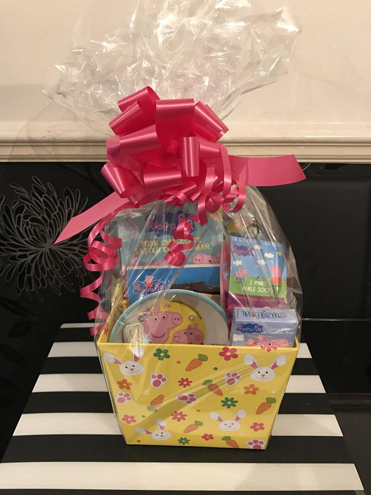 Best 25 easter hampers ideas on pinterest easter bonnets boys peppa pig easter hamper by madebydaniellex on etsy negle Images