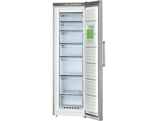 Bosch GSN36VL30G Upright Freezer - Inox GSN36VL30G This frost free, upright freezer pairs contemporary, stylish design with an A   rating. Fast freeze technology and an open door alert all of which will help to keep your food fresh by locking in vitam http://www.MightGet.com/february-2017-2/bosch-gsn36vl30g-upright-freezer--inox-gsn36vl30g.asp