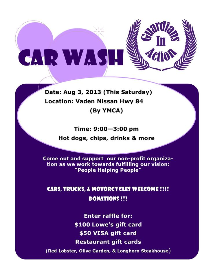 All you have to do is get your car washed car wash