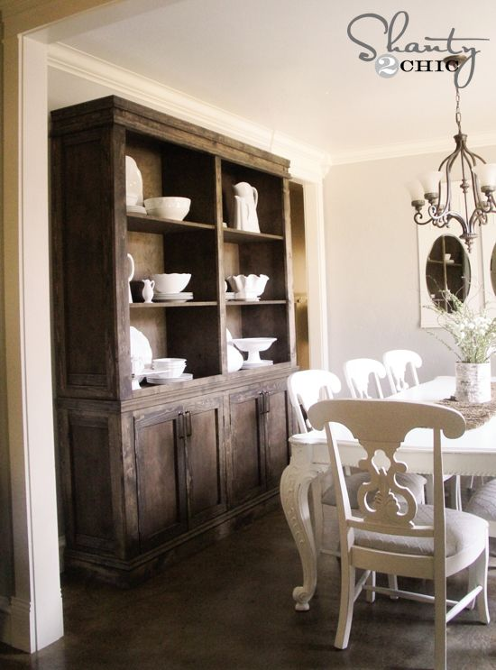 diy restoration hardware farmhouse dining room sideboard and hutch