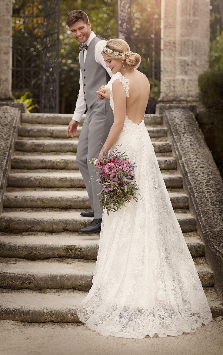 Superb Sheath Wedding Dress with Shoulder Straps from Essense of Australia essense