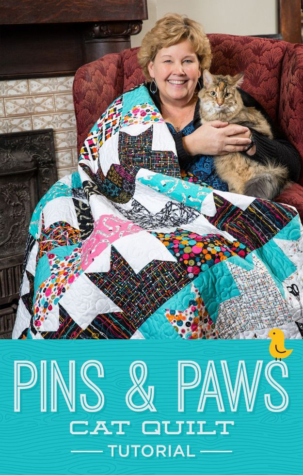 New Friday Tutorial: The Pins and Paws Quilt + Giveaway! | The Cutting Table Quilt Blog | Bloglovin'