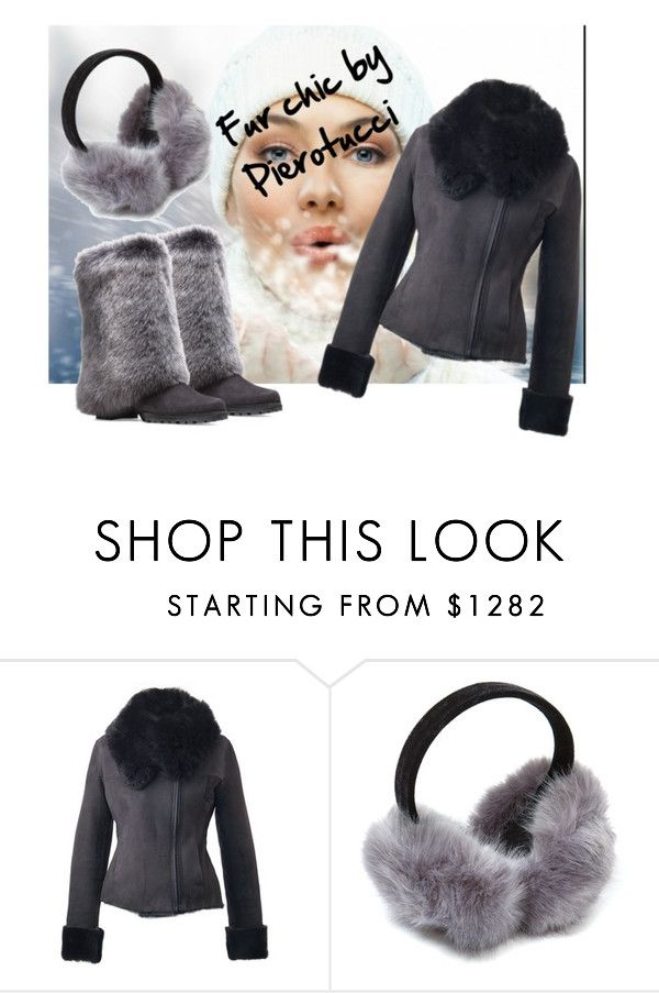 """""""Fur chic by Pierotucci"""" by gasheeva on Polyvore featuring furcoat and Pierotucci"""