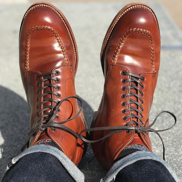 69a7da72e3b matthews.grail . Alden Mahogany Shell Cordovan Indy Boots . #alden ...