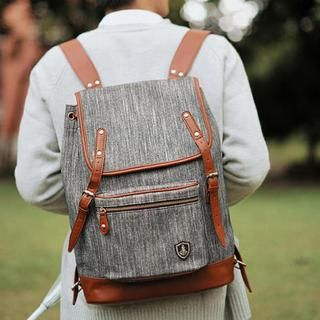 Buy 'SUPER LOVER – Faux Leather Trim Canvas Backpack' with Free International Shipping at YesStyle.com. Browse and shop for thousands of Asian fashion items from China and more!