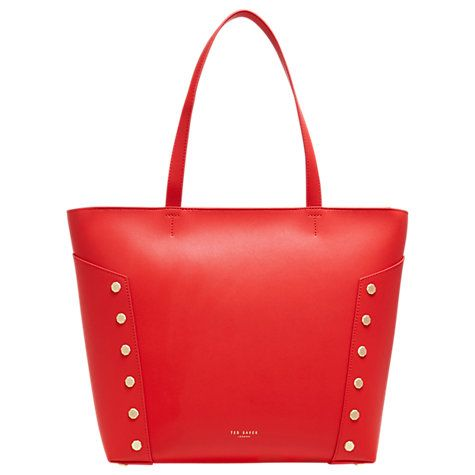 e1ffb8282 Ted Baker Tamiko Stud Edge Leather Shopper Bag at John Lewis