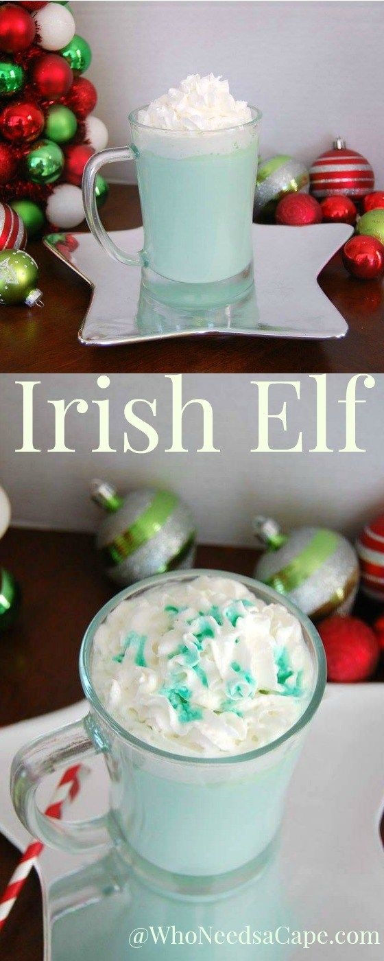Irish Elf a Slow Cooker White Mint Hot Cocoa Cocktail Who Needs a Cape