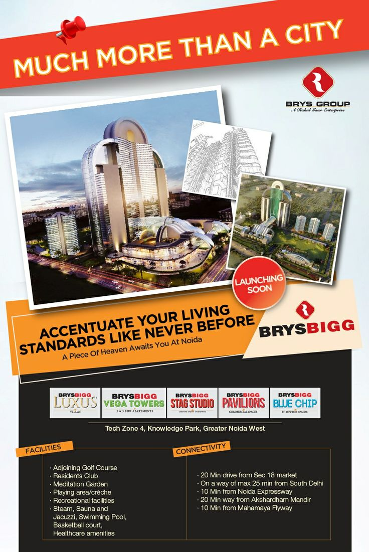 Brys Bigg offers luxury lifestyle in affordable price at techzone 4 noida extension greater noida west.  http://www.brysbiggsnoidaextension.in