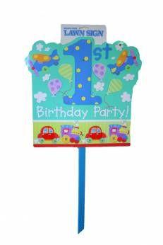 Bord Eerste verjaardag jongen