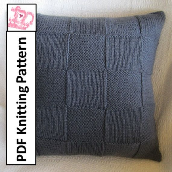 "PDF KNITTING PATTERN Simple Squares 20"" x 20"" by LadyshipDesigns. The perfect home accent. Suitable for knitters of all skill levels $4.95 Click on photo to buy pattern now!"