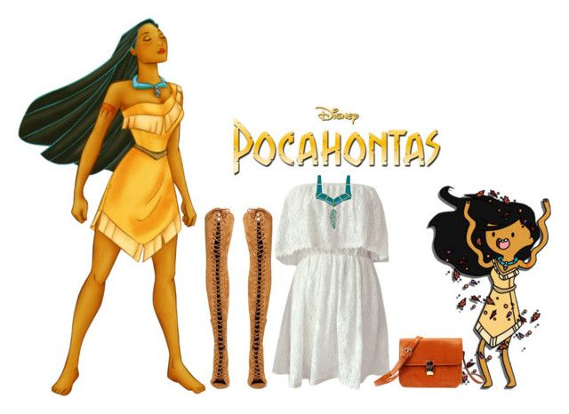 """- Modern Makeover : Disney's Pocahontas -"" by rashana ❤ liked on Polyvore featuring Disney, Jeffrey Campbell, modern, disney, pocahontas and modernmakeover"