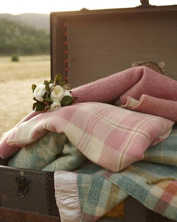 Blankets are a must-have for an outdoor autumn wedding. Make sure everyone stays toasty warm! Especially between dances.