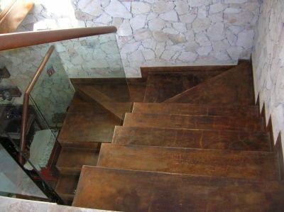 Concreto oxidado escaleras