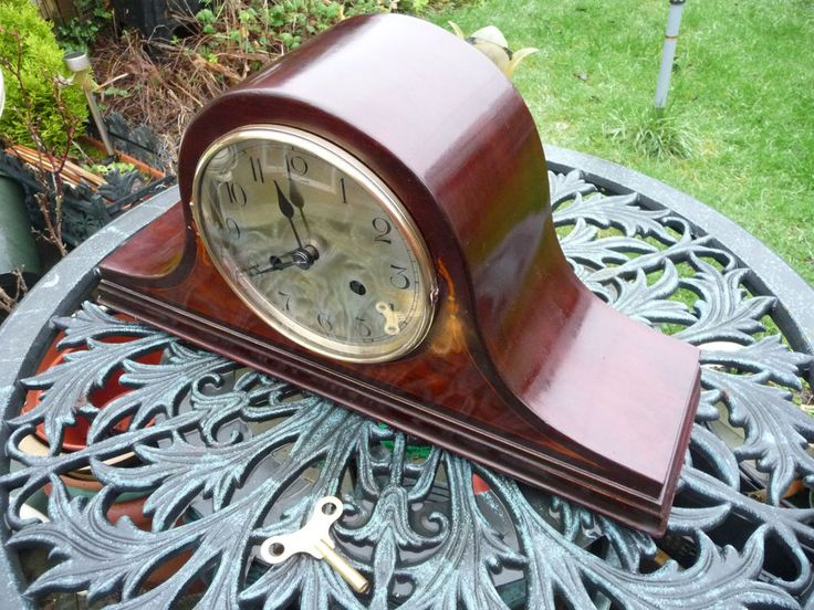 Vintage Napoleon hat, HALLER.A.G  striking Mantle Clock with key. Renovated.