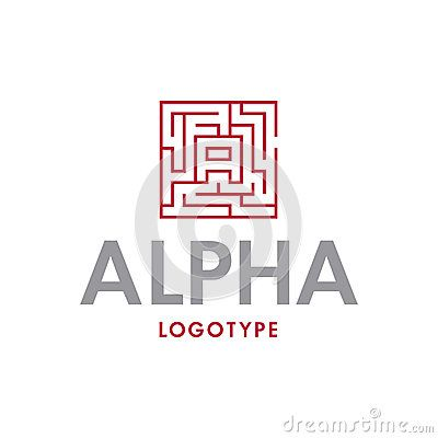 Labyrinth logo design with the letter A