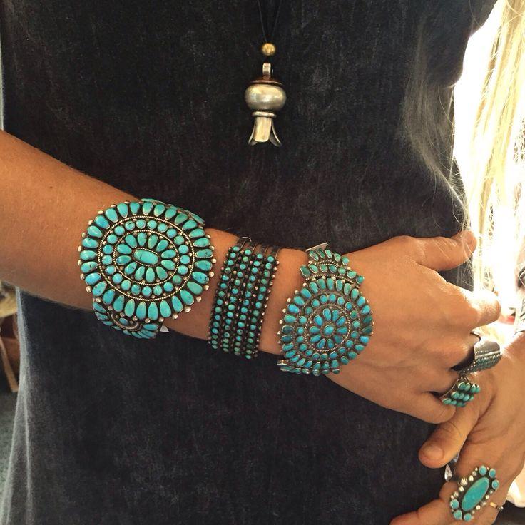 Fun in the shop..... #zuni #navajo #nativeamerican #turquoise Vicki Turbeville