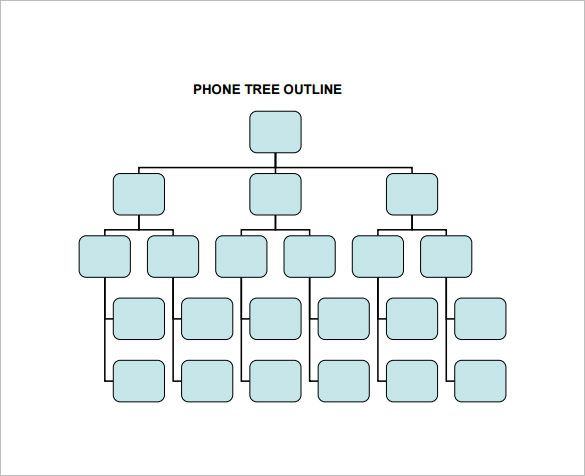 50 Free Phone Tree Templates Ms Word Excel ᐅ Template Lab For