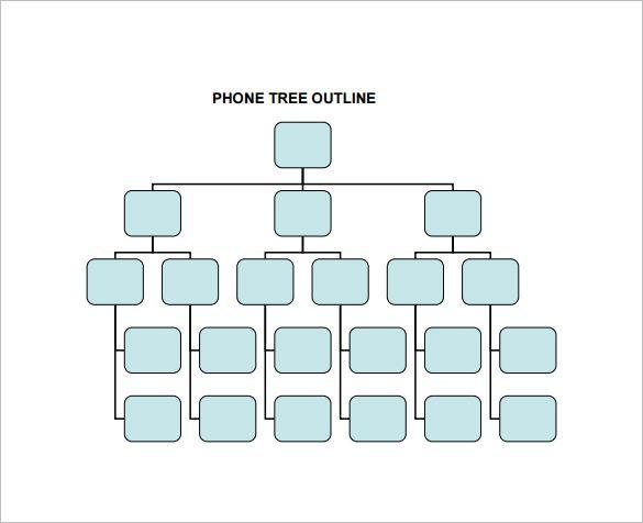 11 Printable Phone Tree Templates Doc Excel Pdf Tree