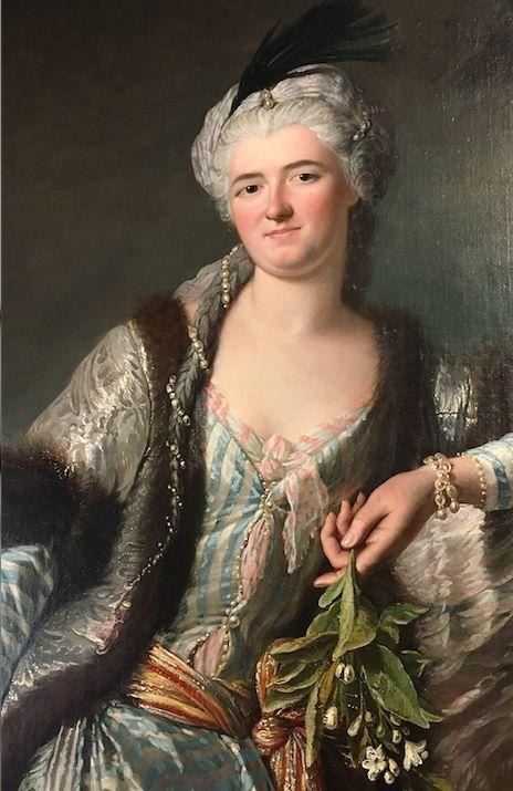 Jacques Andre Josef Aved- Marie de Guerin, Marquise de Sainte Maure d`Orignt, 1743
