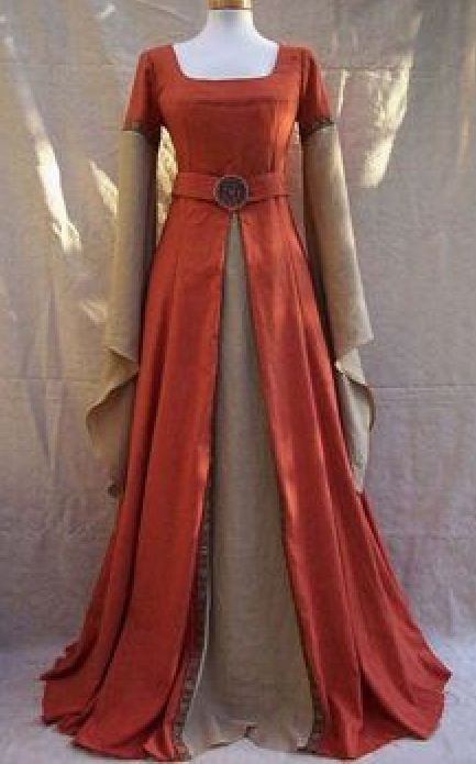 Burnt orange dress
