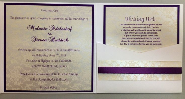 14cm square Marshmallow crisp white pocket with Violet card & Icing on the cake patterned paper